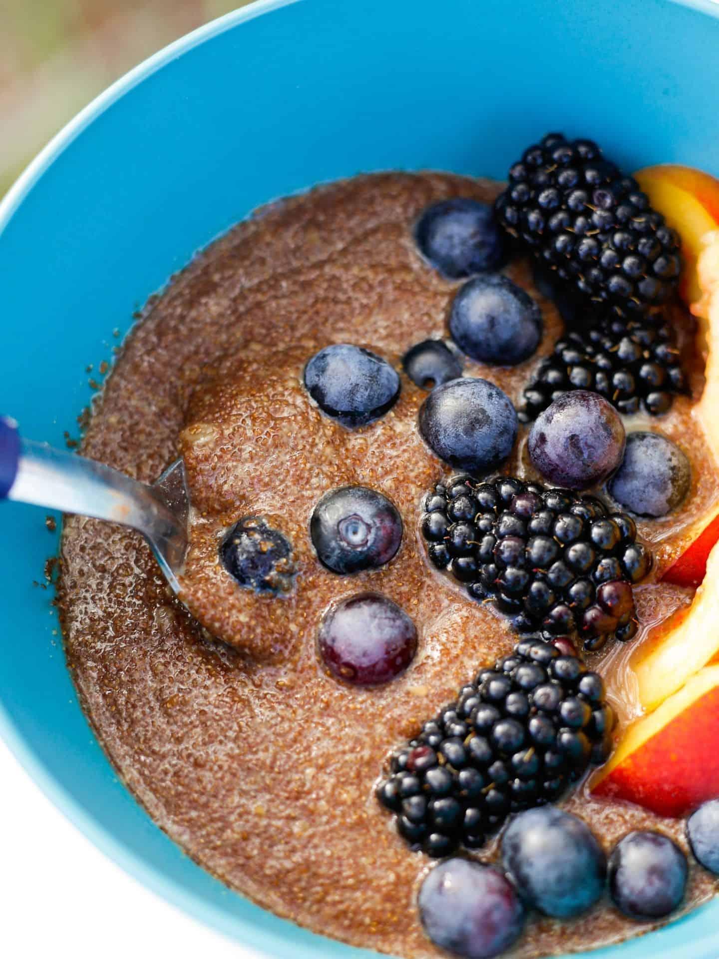 Teff Porridge Nahaufnahme